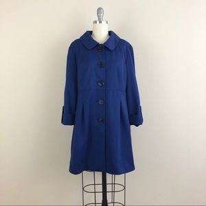 AGB 3/4 Sleeve Button Down Coat